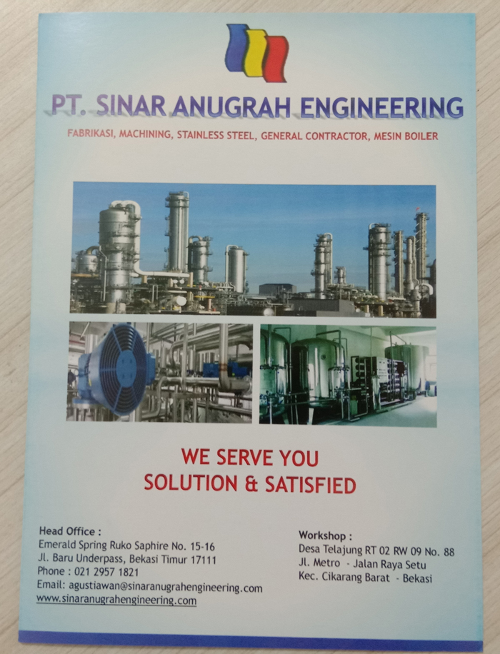 Company Profile PT. Sinar Anugrah Engineering