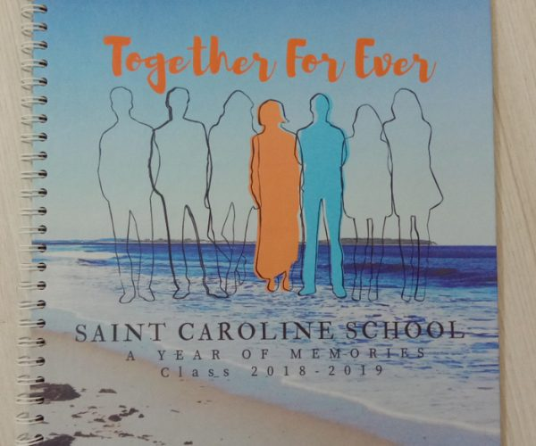 Buku Yearbook Saint Caroline school
